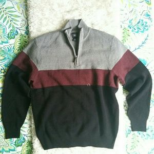 Dockers zip up sweater size Large EUC